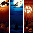 Vertical Halloween Banners - Stock Vector