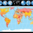 Royalty-Free Stock Vektorfiler: Vector World Map