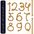 Rope Numbers - Stock Vector