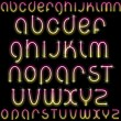 Shiny Neon Font - Stock Vector