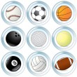 Stock Vector: Sport Balls Set