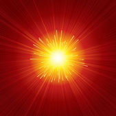 Red Sunburst — Stock Vector