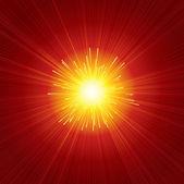 Red Sunburst — Stock Vector
