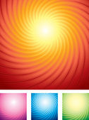 Starburst Backgrounds — Stock Vector