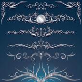 Silver Ornament — Stock Vector