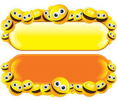Smileys Banners — Stock Vector