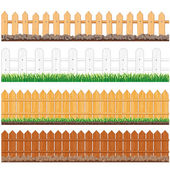 Isolated Fences — Stock Vector