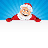 Santa with Copyspace — Stock Vector