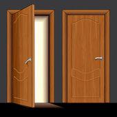 Wooden Door — Vector de stock