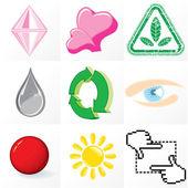 Set of Emblems — Stock Vector