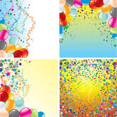 Birthday Backgrounds — Stock Vector