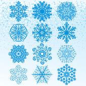 Nastavit sněhové vločky — Stock vektor