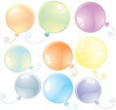 Glossy Balloons — Stock Vector
