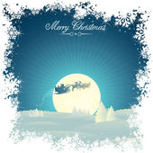 Retro vánoční karta — Stock vektor