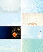 Xmas Cards Collection — Stock Vector