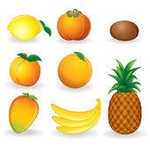 Frutas tropicales — Vector de stock