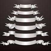 White Ribbons — Stock Vector