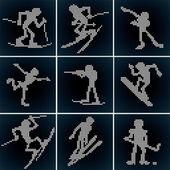 Sport LED Icons — Stockvektor