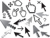 Pixelated icons — Stock Vector