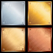 Metal plates — Stock Vector
