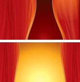 Red Curtain background — Stock Vector