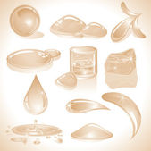 Sepia Water — Stock Vector