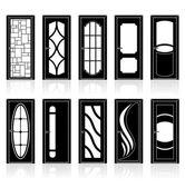 Collection of Interior Doors — Stock Vector