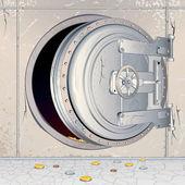 Ouvert de stockage banque vide — Vecteur