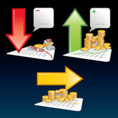 Financiële pictogrammen — Stockvector
