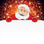 Santa Claus Greeting Card — Stock Vector