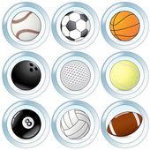 Sport Balls Set — Stock Vector