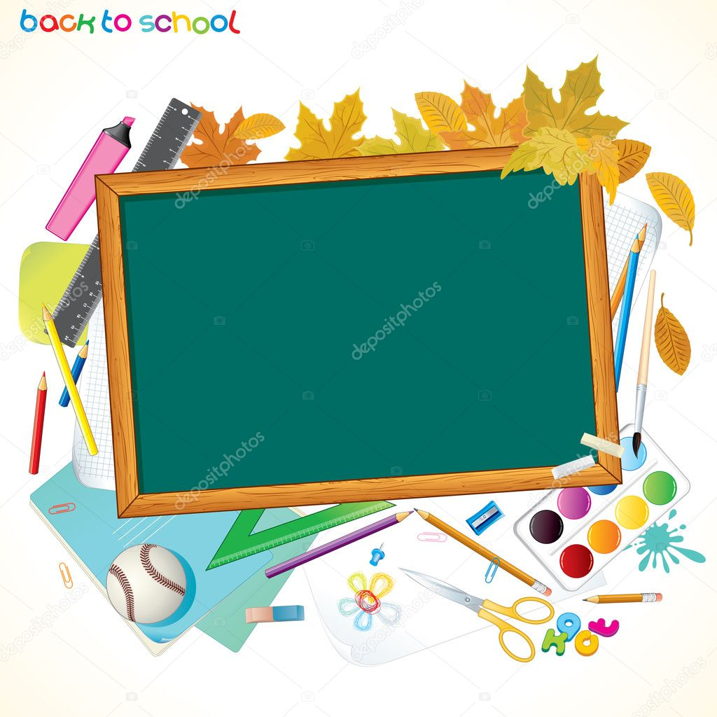 Back To School Background with Copyspace  Stock Vector #8440429