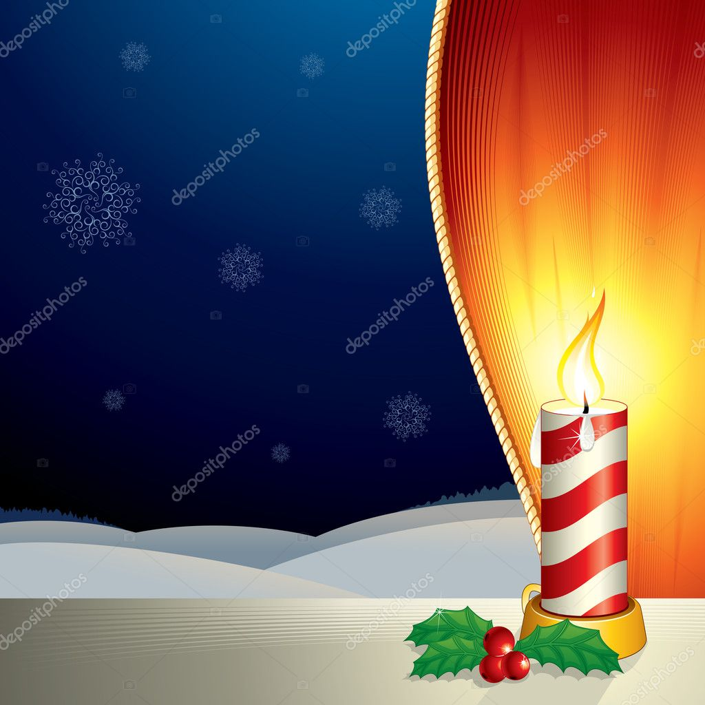 Christmas composition with copyspace for your text or backdrop - vector illustration — Vettoriali Stock  #8440438