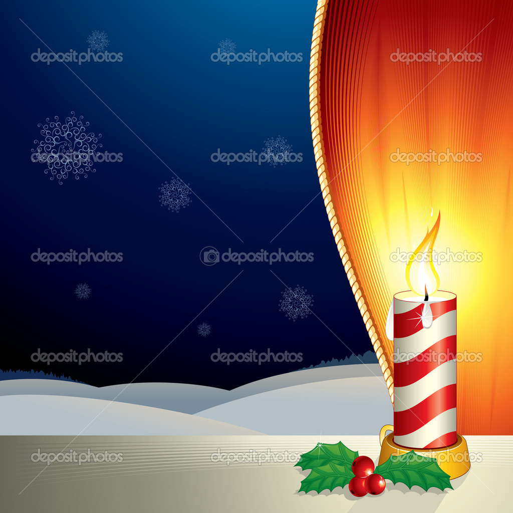 Christmas composition with copyspace for your text or backdrop - vector illustration  Stock Vector #8440438