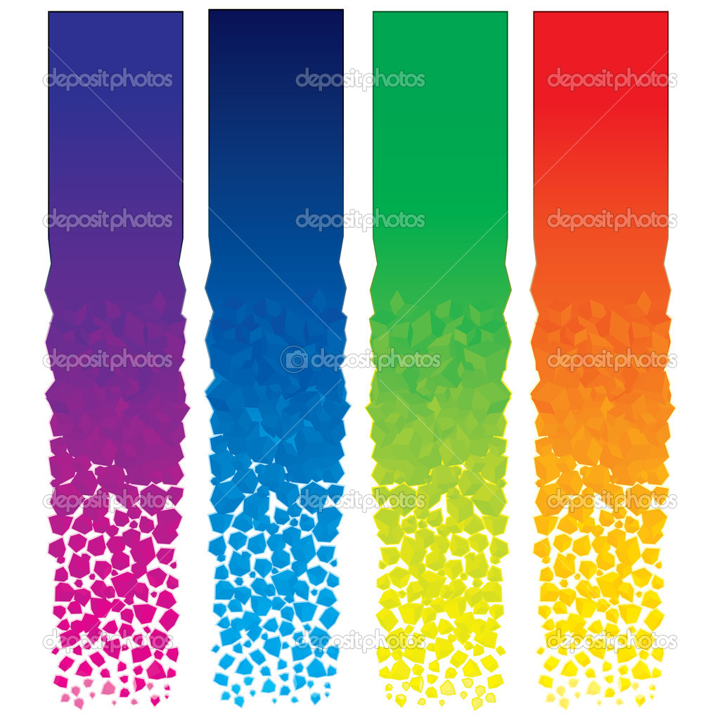 Set of colorful vector vertical banners  Stock Vector #8440832