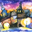 Town at night — Stock Photo #8100042