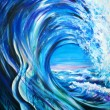 Stock Photo: Blue wave