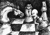 Chess battle — Stock Photo
