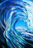 Mavi dalga — Stok fotoğraf