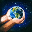 Earth in hands — Foto Stock