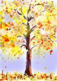 Strom na podzim — Stock fotografie