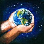 Aarde in handen — Stockfoto