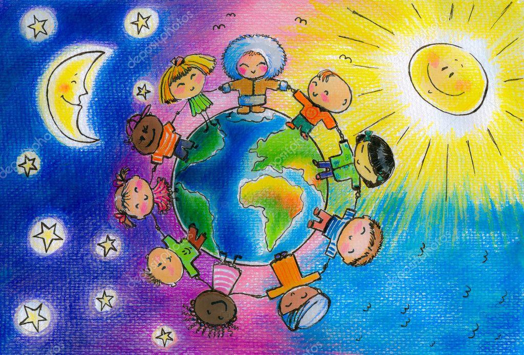 Как рисовать планету детям