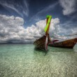 Boats on a sea — Stockfoto