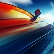 Car on icy road with sky — Stock Photo
