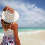 Woman on beach — Stock Photo #8149646