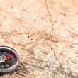 Royalty-Free Stock Photo: Map with compass