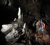 Jeskynní žena — Stock fotografie