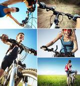 Conjunto de bicicleta — Foto Stock