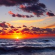 Sunset on a sea — Stock Photo